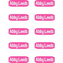 Peel & Stick Clothing Labels *Rectangle Pink*