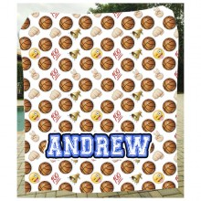 Emoji Basketball Blanket