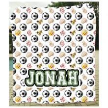 Emoji Soccer Blanket