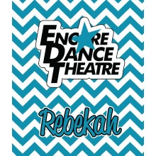Encore Dance Chevron Logo Blanket