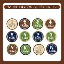 Monthly Onesie Sticker  *Simple*