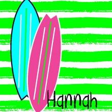 Surf Board Girl Blanket