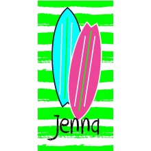 Surf Girl Green Towel- ND