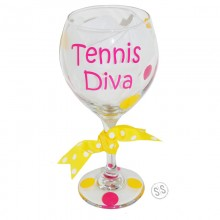 Wine Glass *Tennis Diva*