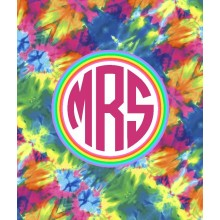 Tie Dye Monogram Blanket- ND