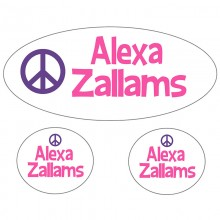 Waterproof Labels *Peace Pink and Purple*
