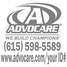 Advocare White Small Window Decal