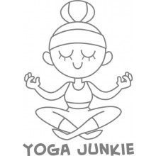 Yoga Junkie Decal