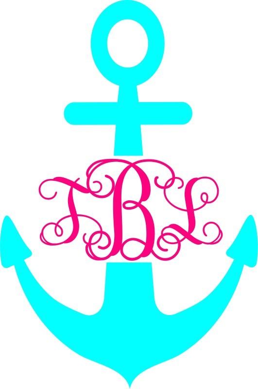 anchor interlocking car monogram