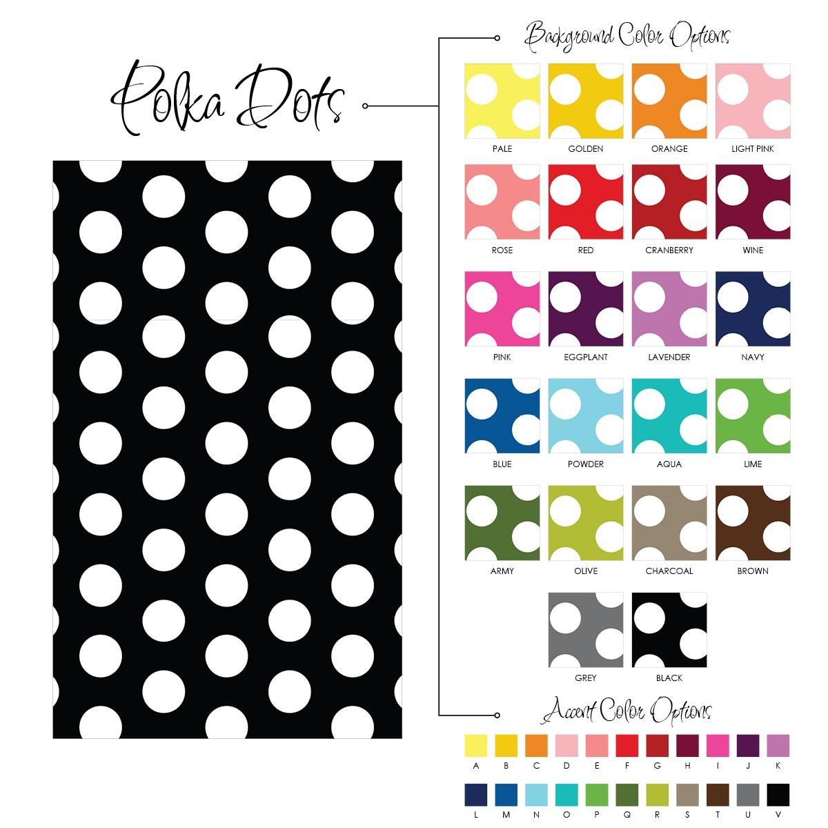 Monogrammed Floor Mats >> Polka Dot Print Monogrammed Gift Tag Labels