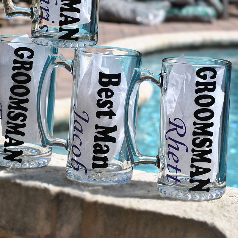 Groomsman Personalized Beer Mugs